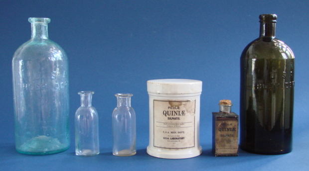 U. S. Army Medical Department medicine containers from the Civil War era
