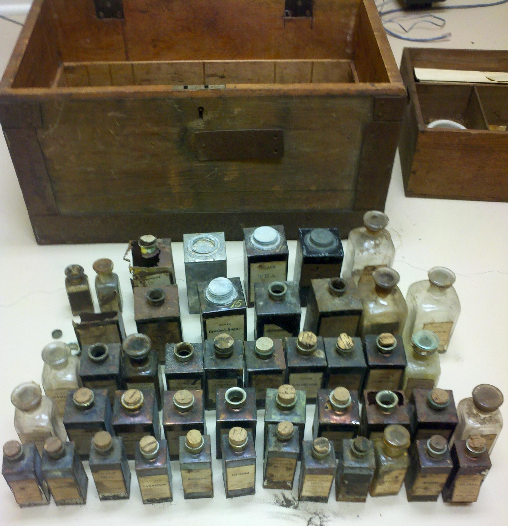 Medicine Bottles, Jars, & Tins